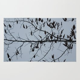 Bare branches silhouette in November Rug