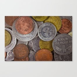 Germany - Deutschmark Old Coins Canvas Print