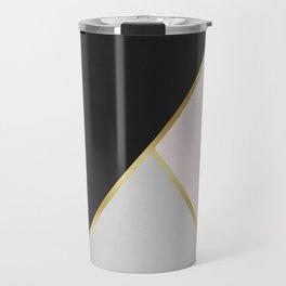 Art with gold V Travel Mug
