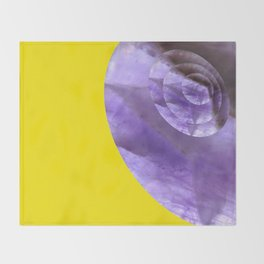 Yellow Mystical Powers of Amethyst #society6 Throw Blanket