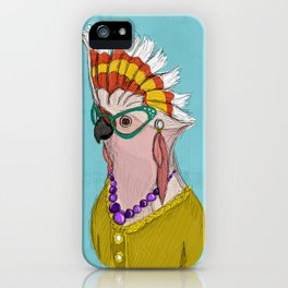 Sophisticated Bird Print iPhone Case