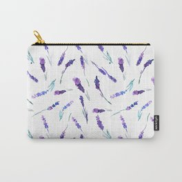 Romantic watercolor lavender pattern Carry-All Pouch