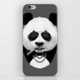 Panda in Black iPhone Skin
