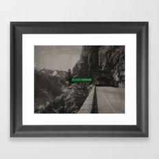 Get Lost Somewhere Framed Art Print