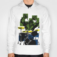 drums Hoodies featuring Smash the Drums... by Doctorductape