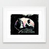tyler durden Framed Art Prints featuring Fight Club Tyler Durden by Anne LaClair