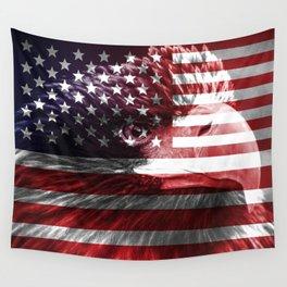 USA flag eagle ph Wall Tapestry