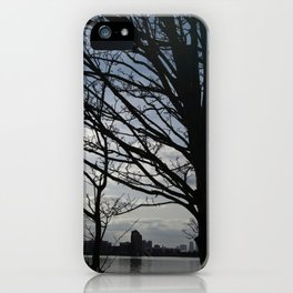 Trees along the River Thames, near Woolwich iPhone Case