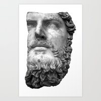 greek Art Prints featuring greek by bobbybard