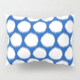 Sapphire Asian Moods Ikat Dots Pillow Sham