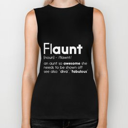 flaunt an aunt so awesome she  sister Biker Tank