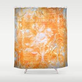 French Twist Orange Shower Curtain