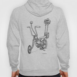 Cartoon Retro Mod Stingray 8-Track Muscle Bike Bicycle Stingray Hoody