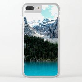 Moraine lake Wander (landscape) Clear iPhone Case