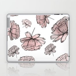 Hand Drawn Peonies Dusty Rose Laptop & iPad Skin