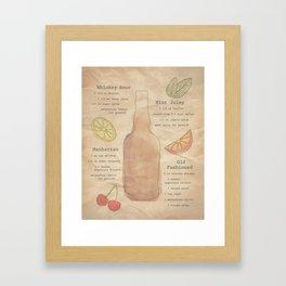 Whiskey Recipes Framed Art Print