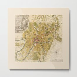Map of Moscow 1739 Metal Print