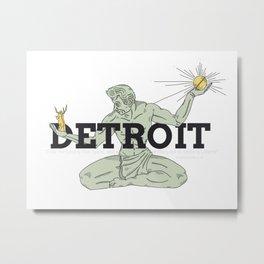 Spirit of Detroit -Classic Metal Print