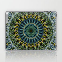 Blue and yellow mandala Laptop & iPad Skin