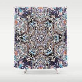 Colorful Kaleidoscopic Abstract Shower Curtain
