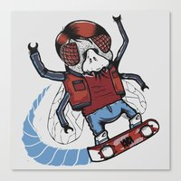marty mcfly Canvas Prints featuring Marty McFLY by Timo Ambo