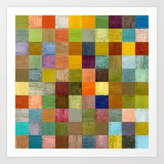 Soft Palette Rustic Wood Series lll Art Print