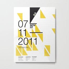 IGNS poster design Metal Print
