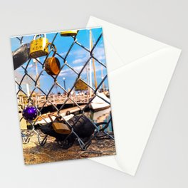 Trapped Rat at Love Locks Bridge in Portland, Maine Stationery Cards