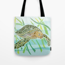 Sea Turtle at Home Tote Bag