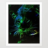 leopard Art Prints featuring Leopard by Simone Gatterwe