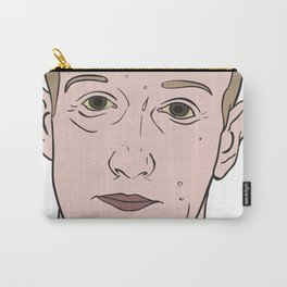 Mark Zuckerberg Looking Very Nervous Carry-All Pouch