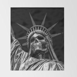 Liberty or Death B&W Throw Blanket
