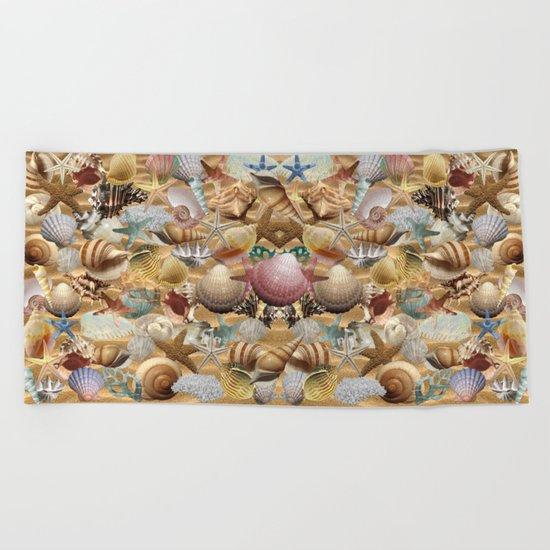Sea Shell Mania Beach Towel
