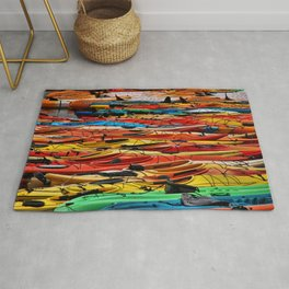 Several different color of Kayaks Rug