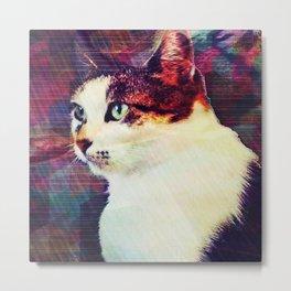 80s Cat Metal Print
