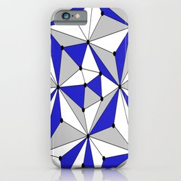 Abstract geometric pattern - blue, gray and white. iPhone Case