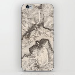 Vintage Map of Yosemite Valley (1870) iPhone Skin