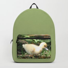 Baby Duckling strolling on a lawn Backpack