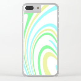 Blue, Yellow, and Green Waves 2 Clear iPhone Case
