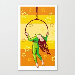 Trapeze-artist under the Circus dome Canvas Print