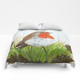 Robin with Oakleaves Comforters