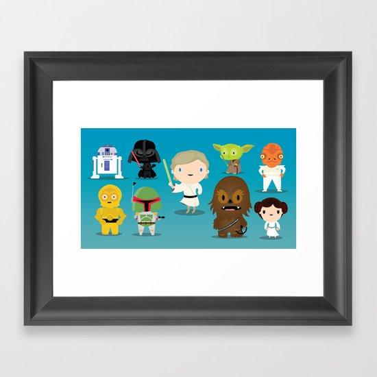 The force Framed Art Print