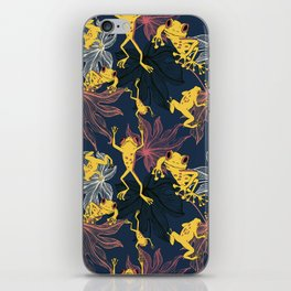 Happy Yellow Frogs iPhone Skin