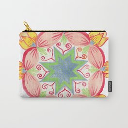 Yellow lotus Mandala Carry-All Pouch