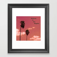 Welcome to Los Angeles Framed Art Print