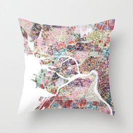 Saint Petersburg map Throw Pillow