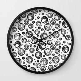 Sketchy Balls Pattern Wall Clock