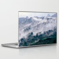 vietnam Laptop & iPad Skins featuring Foggy Mountain of Sa Pa in VIETNAM by CAPTAINSILVA