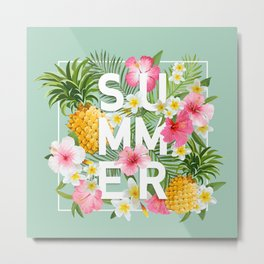 Summer tropical party Metal Print