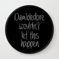 dumbledore Wall Clocks featuring Dumbledore by bitobots